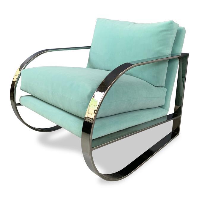 Mid-Century Chrome Lounge Chair Designed by John Mascheroni for Swaim