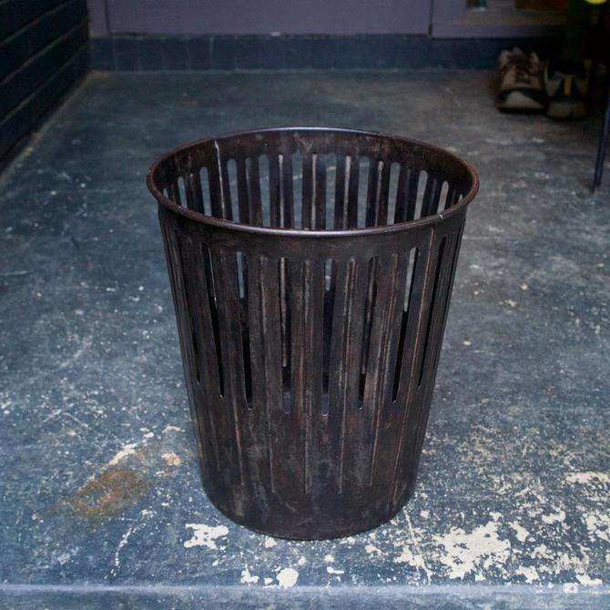 Dan-Dee 1904 Vintage Industrial Factory Office Wastebasket Trash Can by BrainWashington