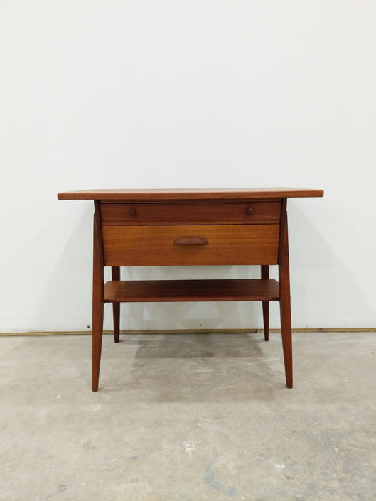 Vintage Danish Modern Teak Side Table / Nightstand by FarOutFindsNYC
