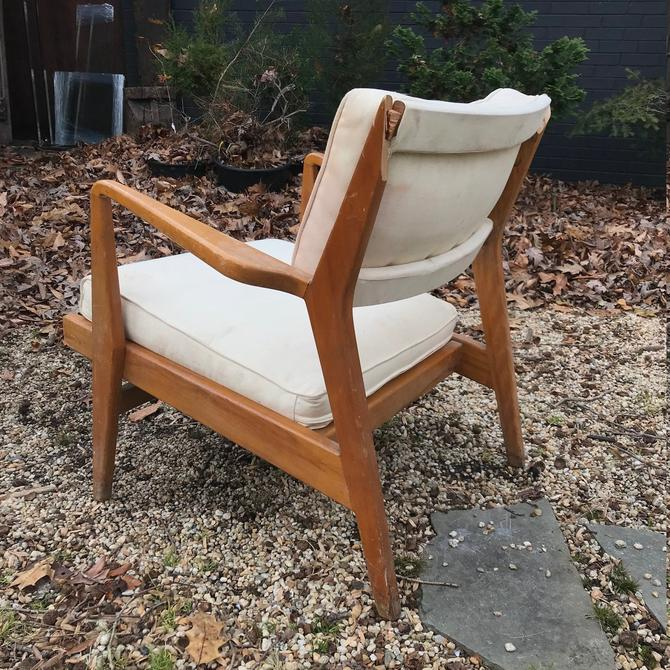 Project Salvage - Jens Risom Lounge Chair Busted Vintage Mid-Century Rare Easy Armchair Busted Woodworker Needed by BrainWashington