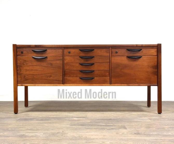 Walnut Credenza Sideboard by Jens Risom by mixedmodern1