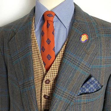 Vintage PENDLETON Wool TWEED Blazer ~ 46 R ~ jacket / sport coat ~ Glen Plaid ~ Preppy / Ivy Style / Trad by SparrowsAndWolves