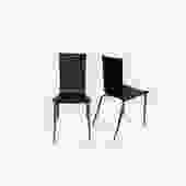 Black Wood & Chrome Dining Chairs