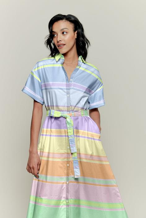 Sarah Shirtdress | Paquin Pastel Stripe