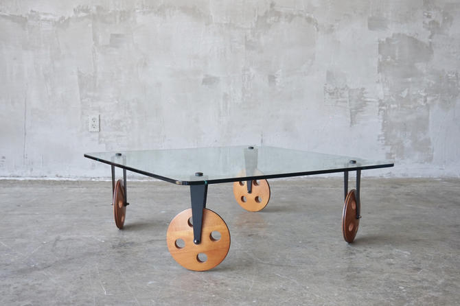 Gae Aulenti Style Coffee Table by FandFVintage