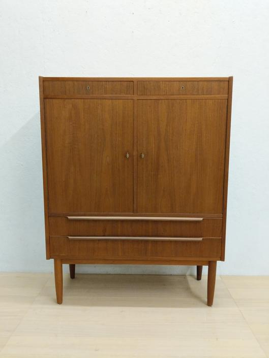 Vintage Danish Modern Teak Wardrobe / Dresser by FarOutFindsNYC