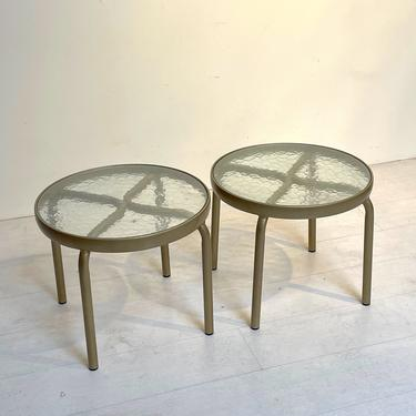 Pair of Patio Side Tables By Brown Jordan - Mid Century Modern by XcapeVintage