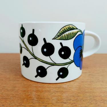 Vintage Arabia Paratiisi Paradise Cup   Birger Kaipiainen   Coffee Tea   Fruit Flower   1970s 1980s by TheFeatheredCurator