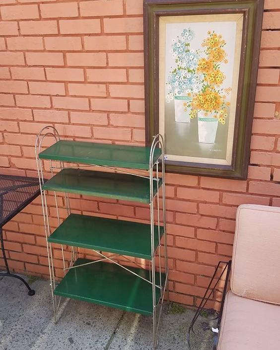 Deco Four Shelf Metal Rack, $89.