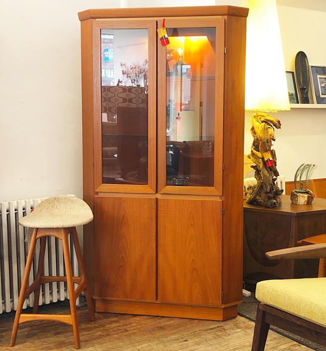 Skovby Teak Corner Cabinet