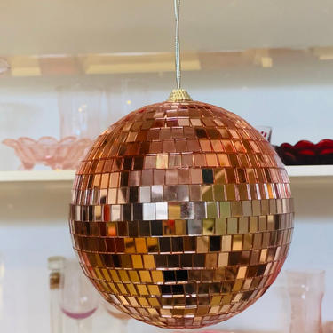 """Rose Gold Disco Ball Mirror Ball 6"""" THE EBBA by LivingColorfullyShop"""