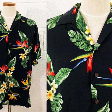 Vintage Hawaiian Shirt Kalaheo Button Up Hawaii Summer Short Sleeve Blouse Resortware Cruise Vacation Beach Cabanaware XL Plus XXL by CheckEngineVintage