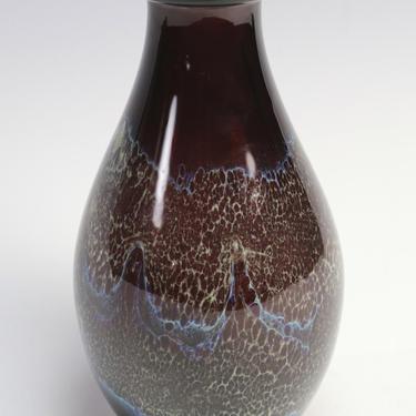 Vtg Buzz Williams 1981 Studio Art Blown Glass Bud Vase Purple Blue MCM Signed by HouseofVintageOnline