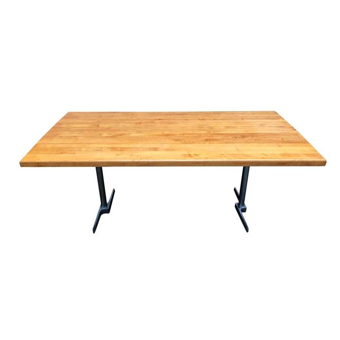 Vintage Butcher Block Dining Table