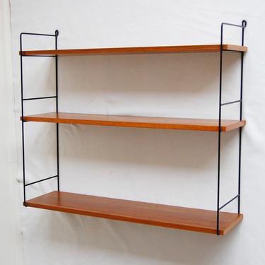 Mid Century Modern Wall-Mount Teak Shelves Bookshelf Rack by MidCentury55