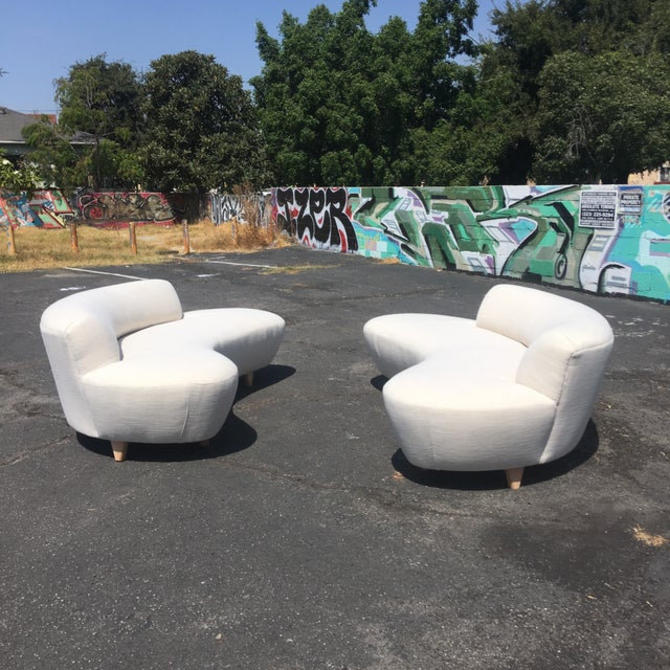 Modern Cloud Sofa's- Pair by VintageOnPoint