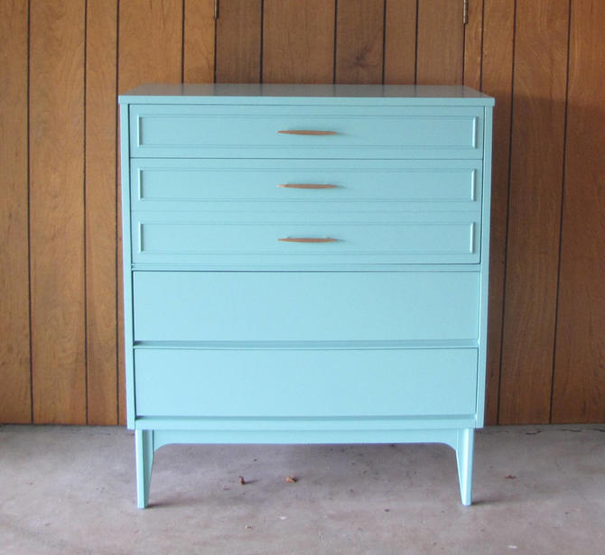 SOLD - Midcentury Dixie Tallboy Dresser by SophiaRestoration