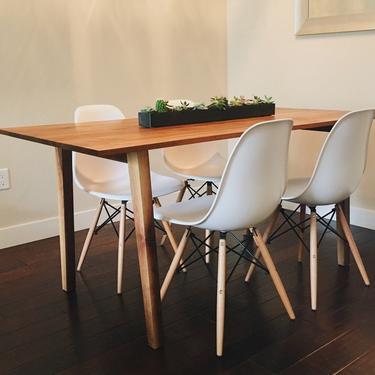 Midcentury Walnut Dining Table *custom listing* by BevelDownDesign