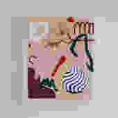 Still Life With Dogwood & Striped Vase