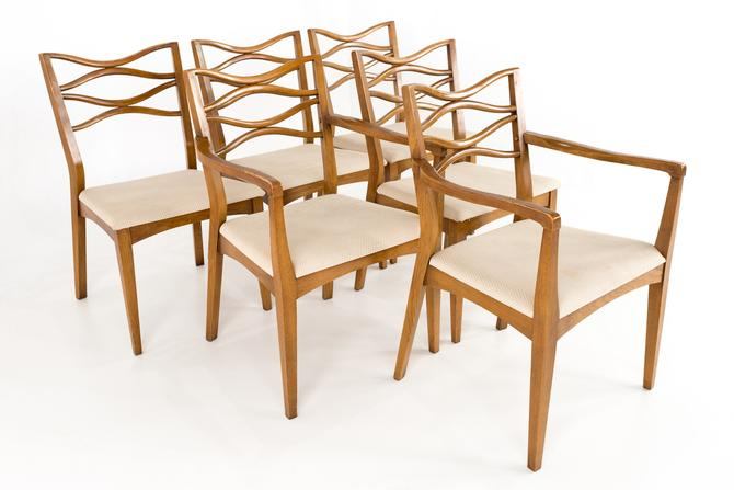 Johannes Anderson 101 Style Mid Century Walnut Bowtie Dining Chairs - Set of 6 - mcm by ModernHill