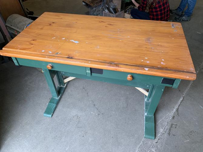 Wood drafting table 35H x 47W x 25.5D