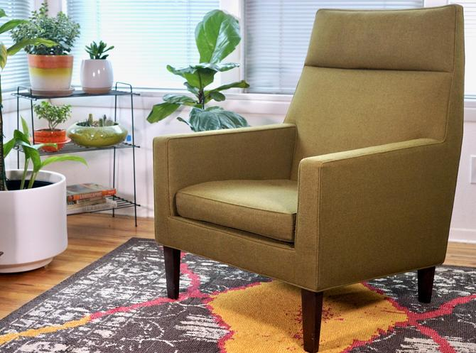 EDWARD WORMLEY DUNBAR - Lounge Chair/Armchair Mid-Century Modern Vintage Arm Chair - Moss Green by CovetModernDesign