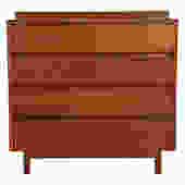 Vintage Modern Solid Teak Tall Dresser