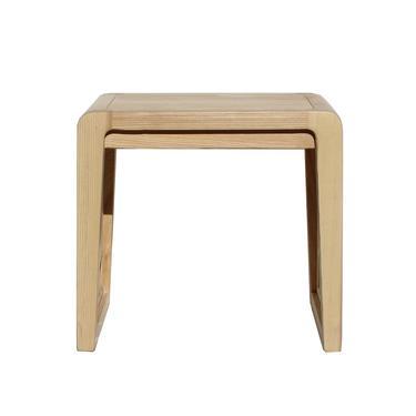 Light Natural Raw Wood Minimalist Lattice Pattern Stool Table cs6049E by GoldenLotusAntiques