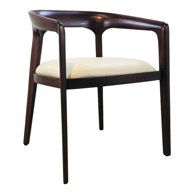 Danish Modern Style Walnut Finished Accent Chair