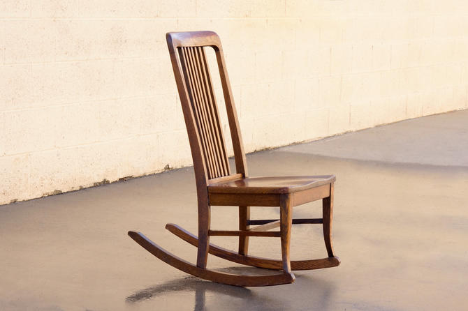 American Craftsman Child's Rocking Chair with Slat Back