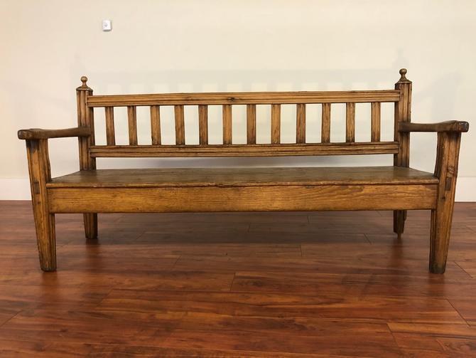 Antique English Pine Bench by Vintagefurnitureetc