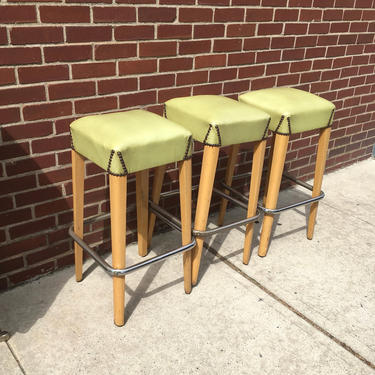Mid Century Bar Stools Set 0f 3 by bcdrygoods