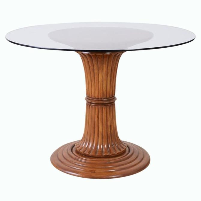 Turned Wood Pedestal Style Dining or Center Table by ErinLaneEstate
