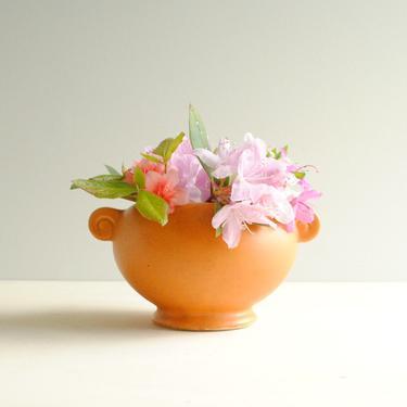 Vintage Orange Pottery Vase or Plant Pot, Floraline USA #452 Pottery Vase, Speckled Finish Floraline McCoy Vase from the 1950s by LittleDogVintage