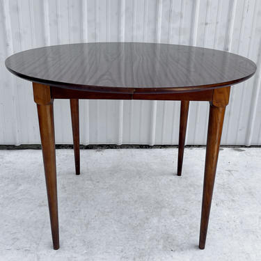 Mid-Century Circular Dining Table With Leaves by secondhandstory