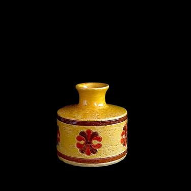 Vintage Mid Century Modern Italian Pottery Vase Aldo Londi Bitossi Italy Rosenthal Netter 20th Century Classic Design 1960s by SwankyChaperooo