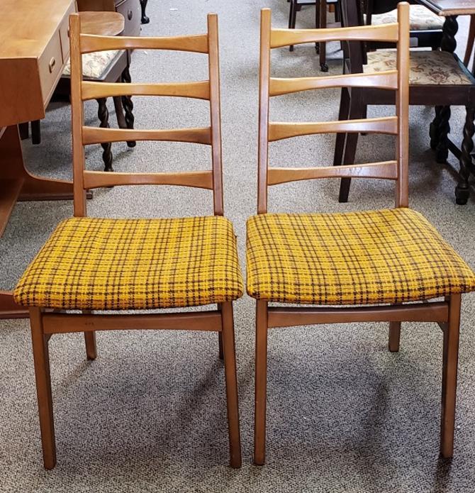 Item #R137 Pair of Mid Century Teak Side Chairs c.1960s