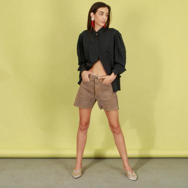 40s Cream Tan Leather Lederhosen Shorts Vintage Traditional Austrian Shorts by AppleBranchesVintage