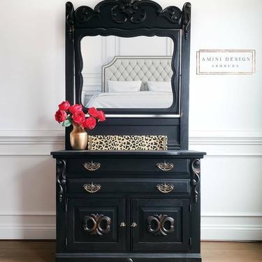 Leopard Stencil Wood Tray - Home Decor by AminiDesignAshburn