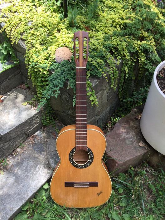 Vintage Klair Parlor Guitar Inlaid MOP Acoustic 6 String by BrainWashington