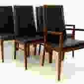 Merton Gershun for Dillingham Walnut Dining Chairs