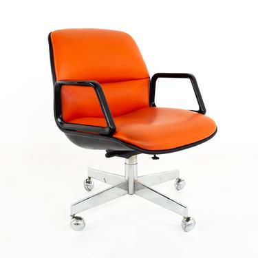 Charles Pollock for Knoll Style Mid Century All Steel Office Desk Chair - mcm by ModernHill
