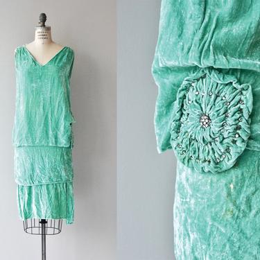 Le Grand Folie dress | 1920s silk velvet dress | vintage 20s dress by DEARGOLDEN