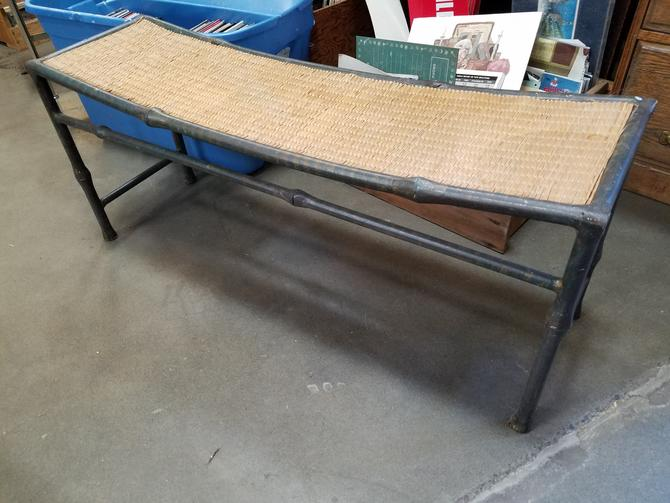 Curved Top Bamboo Motif Table