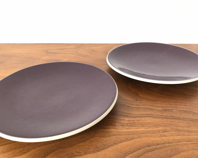 Pair of Sasaki Colorstone Salad Plates in Plum (Purple) by Vignelli Designs by TheThriftyScout