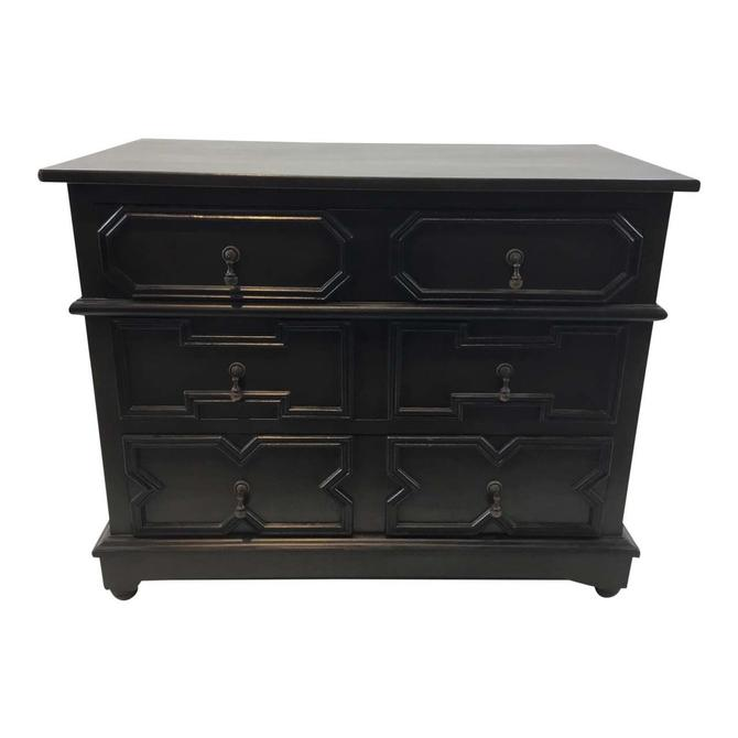 Noir Co. Transitional Black Watson Mahogany Dresser