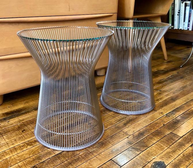 Pair of Authentic Warren Platner Side Tables