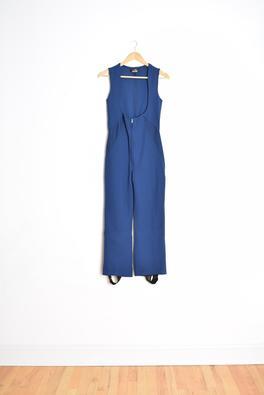 vintage 70s jumpsuit ski jumpsuit 70s snow pants navy blue jumpsuit