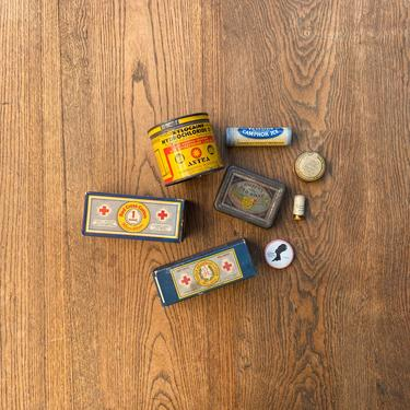 Vintage Medicinal Tin Lot Apothecary Pharmacy Decor Display by NorthGroveAntiques
