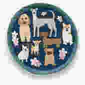 Round Rescue Dog Pot Holder